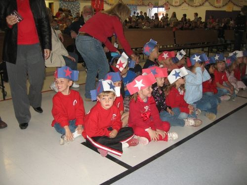 Jarom's class before Veteran's Day program - small