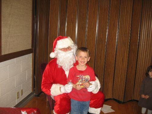 Jarom with Santa 08